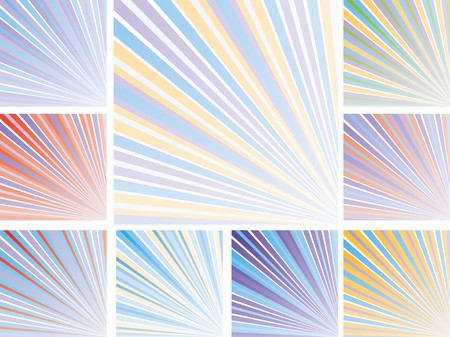 Set of abstract colorful backgrounds with strips, part 10, vector illustration Vector