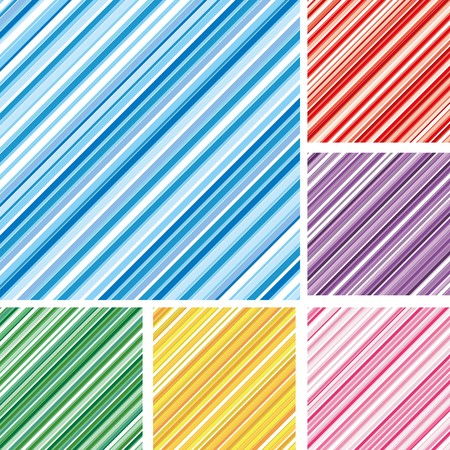 Set of abstract colorful backgrounds with strips, part 5, vector illustration Vector