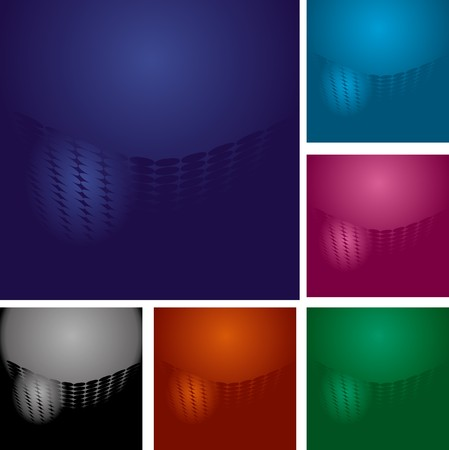 Set of abstract colorful backgrounds with dots and lights, part 14, vector illustration Vector