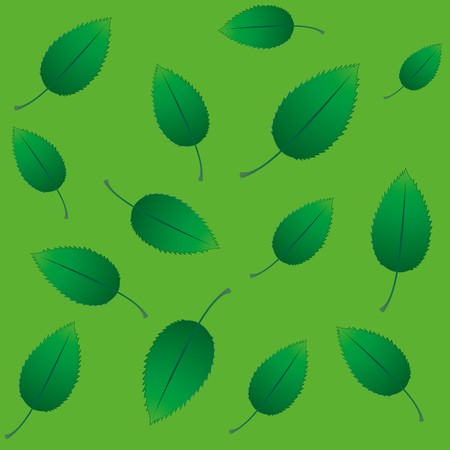 swill: Seamless eco background with green fresh leaves, vector illustration Illustration