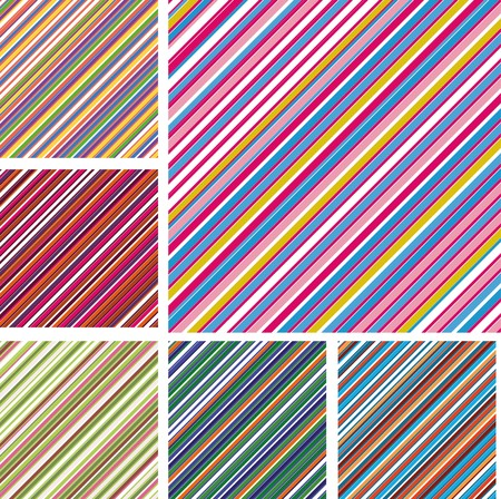 Set of abstract colorful backgrounds with strips, part 6, vector illustration Vector