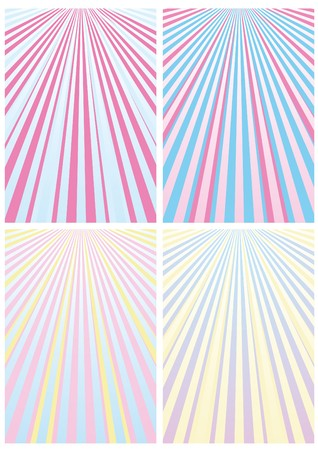 Set of abstract colorful backgrounds with strips, part 13, vector illustration Vector