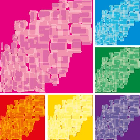 slur: Set of abstract colorful spotted backgrounds, part 17, vector illustration