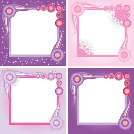 Set of abstract colorful retro backgrounds, part ,22 vector illustration Vector