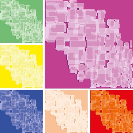 Set of abstract colorful spotted backgrounds, part 18, vector illustration Vector