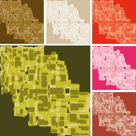 Set of abstract colorful spotted backgrounds, part 20, vector illustration Vector