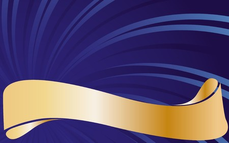 headliner: Abstract blue background with golden type. illustration.