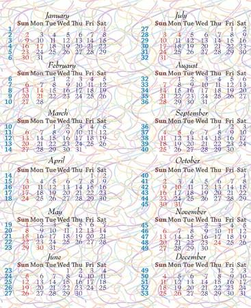 2011 Calendar on Abstract background, Vector illustration Vector