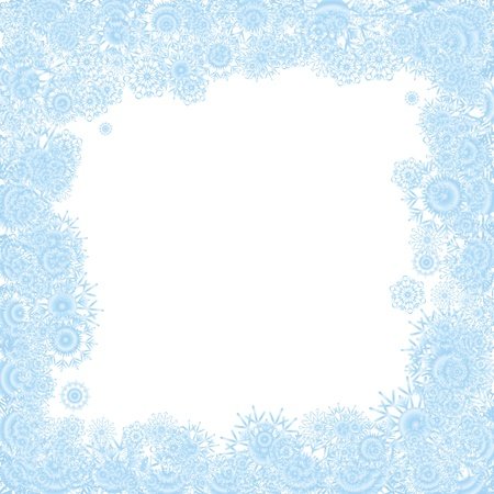 Christmas background with blue snowflakes Vector