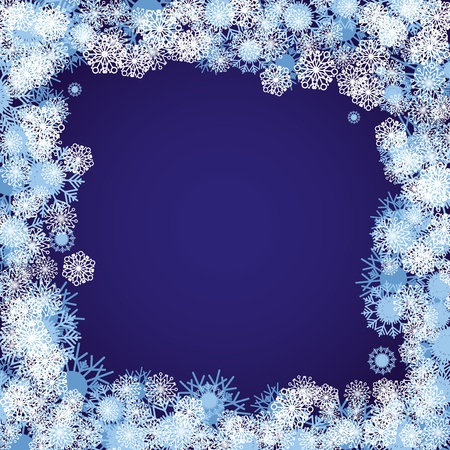 Blue christmas background with snowflakes, illustration Stock Vector - 8457616