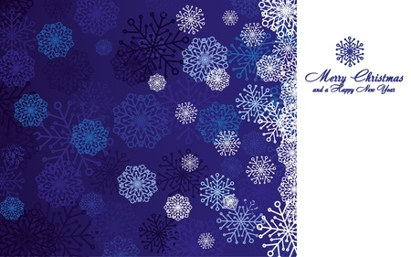 Blue christmas background with snowflakes, illustration Stock Vector - 8457614