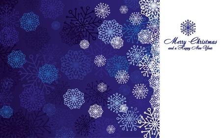 headliner: Blue christmas background with snowflakes, illustration Illustration