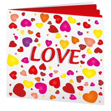 Book with hearts on top as love book Vector
