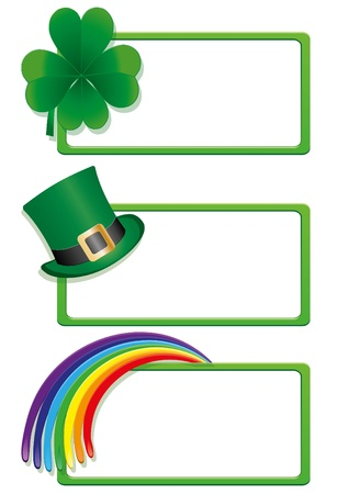 patrik day: Set of St. Patrick`s day banners, part 1, vector illustration Illustration