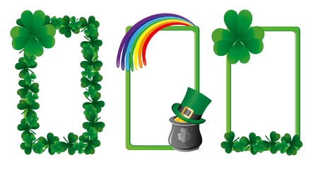 patrik day: Set of St. Patrick`s day banners, part 4, vector illustration Illustration
