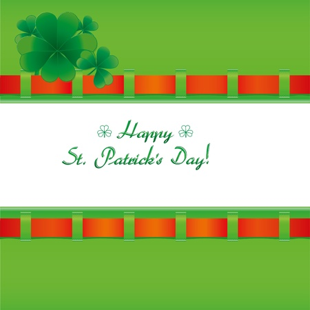 fourleafed: Background with clovers for St.Patrick`s day with one happy clover, vector illustration Illustration