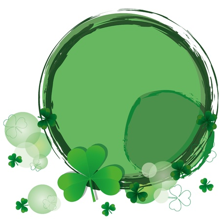 Background with clovers for St.Patrick`s day  Vector