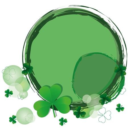 four leafed clover: Fondo con tr�boles de d�a de St.Patrick