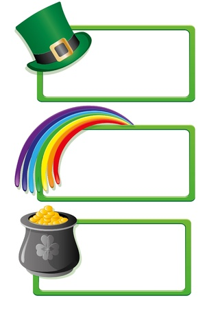 patrik day: Set of St. Patrick`s day banners, part 2, vector illustration Illustration