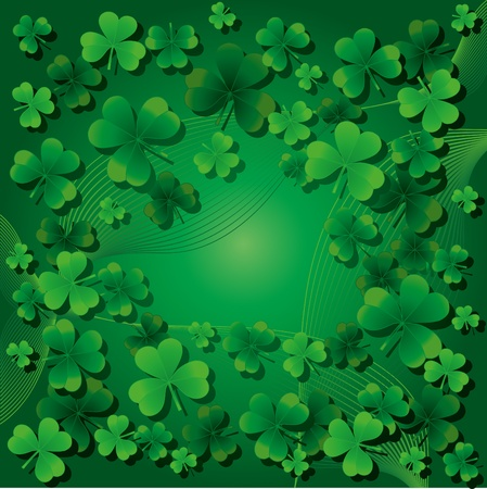 fourleafed: Background with clovers for St.Patrick`s day, Find one Happy Four-leafed clover