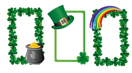 patrik day: Set of St. Patrick`s day banners, part 6,