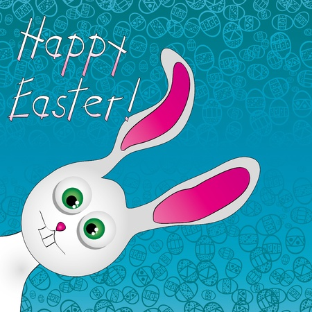 Cute Easter Bunny. Use to create fun Easter projects. Vector illustration Stock Vector - 9249700