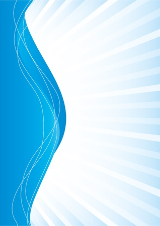 Simple abstract blue background, vector illustration Vector