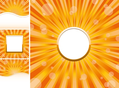Set of abstract colorful backgrounds, part 22, vector illustration Vector