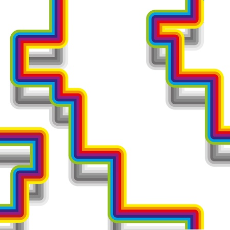 abstract bacground: Abstract bacground with rainbow strips, vector illustration