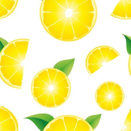 Lemon seamless background, vector illustration Illustration