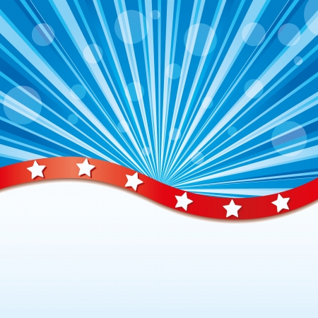 fourth of july: Background with elements of USA flag, vector illustration Illustration
