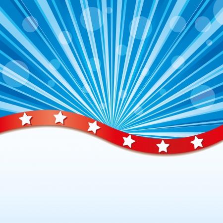 independencia: Fondo con elementos de la bandera de Estados Unidos, ilustración vectorial