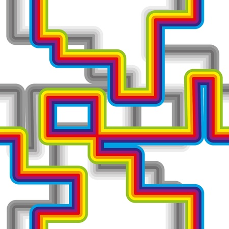 cretive: Abstract seamless bacground with rainbow pattern, vector illustration