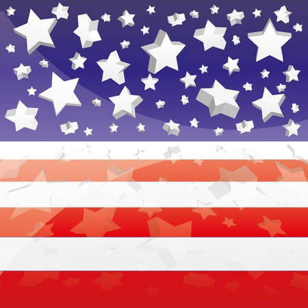 inaugural: Background with elements of USA flag, vector illustration eps 10.0 Illustration