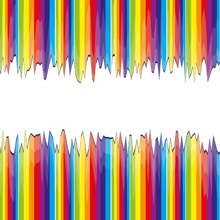 abstract bacground: Abstract bacground with rainbow strips cut Illustration