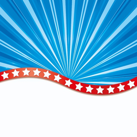 Background with elements of USA flag Stock Vector - 9811176