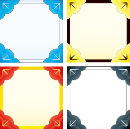 Set of abstract colorful frames for photo or text  Vector