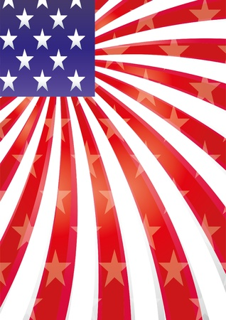 Background with elements of USA flag  Vector