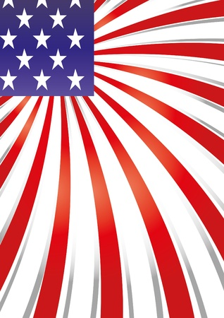 voter: Background with elements of USA flag, vector illustration