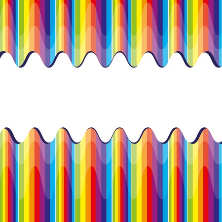 abstract bacground: Abstract bacground with rainbow, vector illustration Illustration
