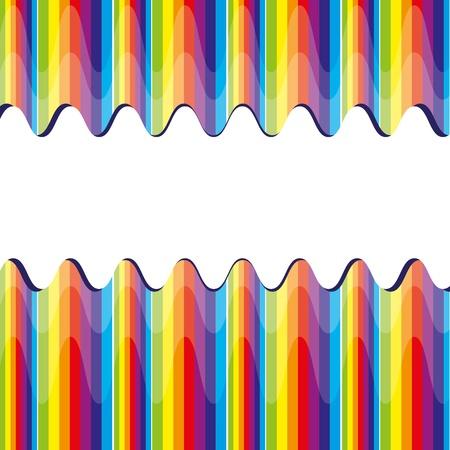 arco iris vector: Bacground abstracto con el arco iris, ilustraci�n vectorial