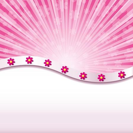 feminine background: Fondo abstracto de color rosado con flores