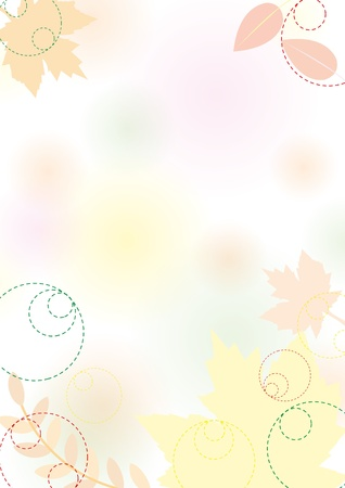Autumn background with leaves, pastel, vector illustration eps 10.0 Vector