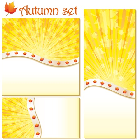 Set of autumn banners and backgrounds, vector illustration Vector