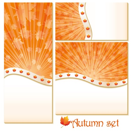 backcloth: Set of autumn banners and backgrounds.