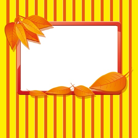 Autumn background with leaves Stock Vector - 10493113