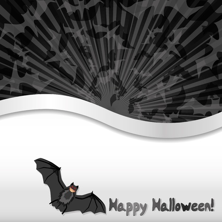 haloween: Haloween background with bats and place for text