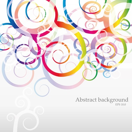 headliner: VECTOR Abstract Rainbow Background for Business Brochure or Cover , eps 10.0