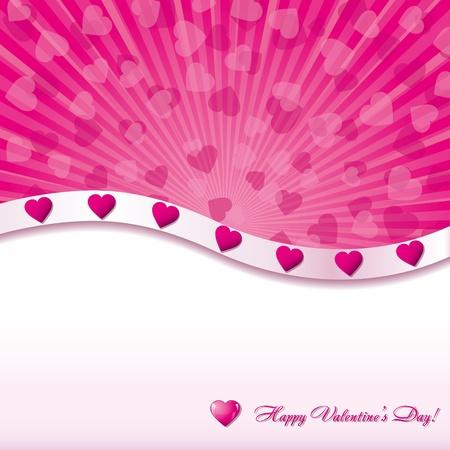 i love u: Pink valentine background with hearts, vector illustration Illustration