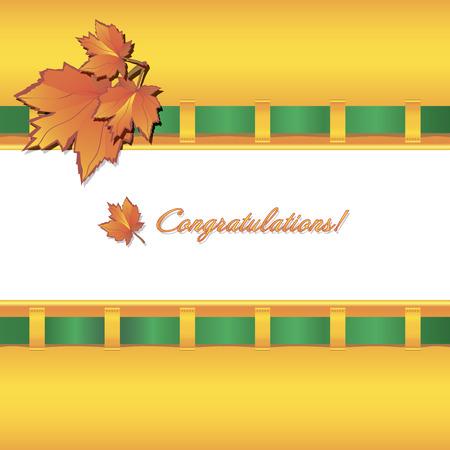 background herfst: Herfst achtergrond met esdoornbladeren Stock Illustratie